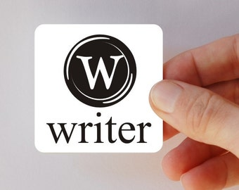 writer square magnet