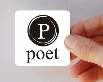 poet square magnet