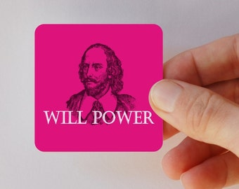 will power square magnet