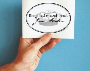 keep calm and read Jane Austen sticker