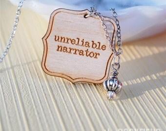 unreliable narrator necklace