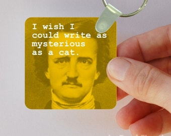 mysterious writer keychain