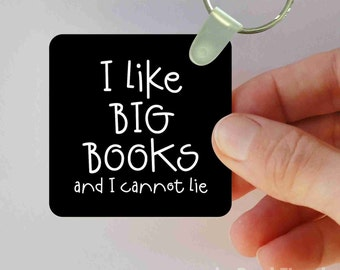 I like big books keychain