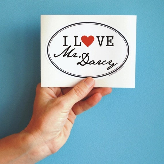 I love Mr. Darcy sticker