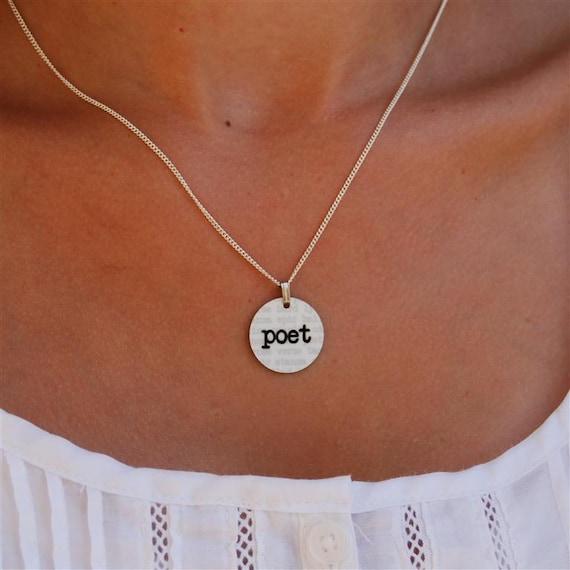 poet charm necklace