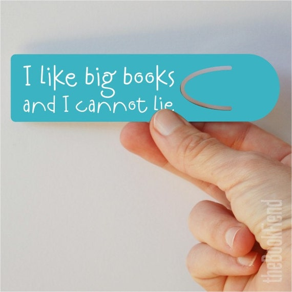 i like big books aluminum bookmark