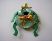 Frog Prince - Upcycled Magnet - Eco Friendly