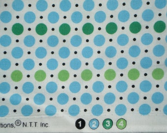 DS Quilts Denyse Schmidt Dots Green Blue Picnic Fairgrounds FQ or more