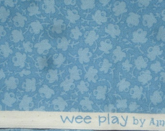 American Jane Wee Play tiny flowers light blue moda fabrics FQ or more