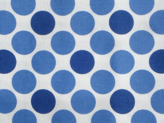 SALE : American Jane Cherries Jubilee Blue Dots on White moda fabric FQ or more