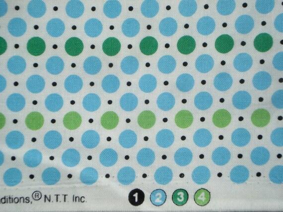 DS Quilts Denyse Schmidt Dots Green Blue Picnic Fairgrounds FQ or more