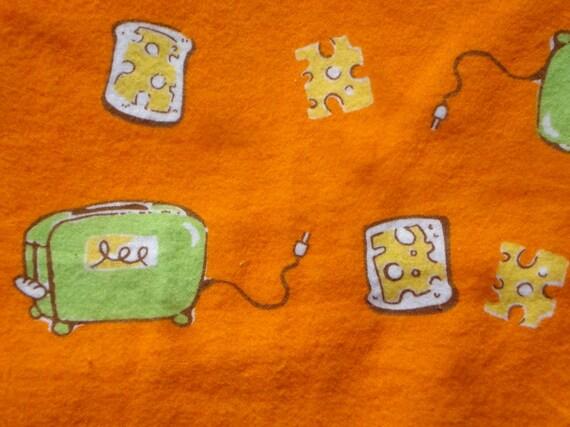 Heather Ross Munki Munki PJ leg panel Flannel Cheese Toast