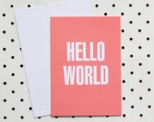 Hello World card - akimbodesign