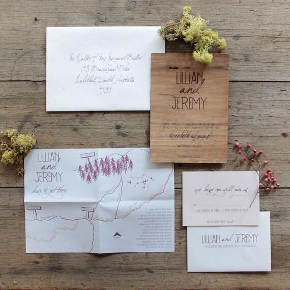Oberon wedding invitation suite