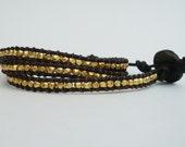 22K Vermeil Gold Nugget Wrap Bracelet