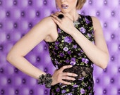 Purple Flower Bandage dress by CWCouture