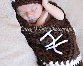 Football Cocoon and Hat, Newborn