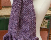 Charlotte Wrap, hand knit collection of wild lavender.