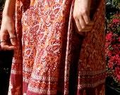 Beautiful Hippie Vintage Indian Cotton Wrap skirt Circa 1960s 1970s