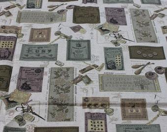 ON SALE-Last-140cm x 150 cm-Japanese Fabric Cotton Linen Blend ---Patchwork-Dark green