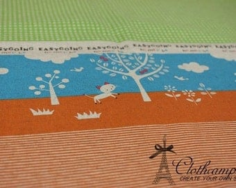 ON SALE-1yard -Japanese cotton linen blended fabric -Cats under the shade