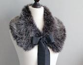 SALE 15% OFF. Wolf faux fur collar