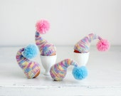 SALE 10% OFF Multicolor egg warmers, set of 4