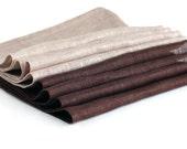 Linen napkins. Set of 8.