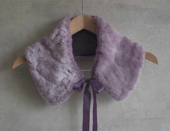 Gentle lavender collar from soft faux fur