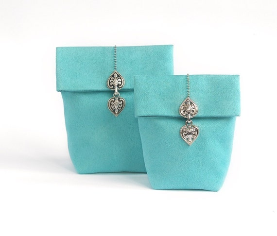 Tiffany-blue pouch purse (size S)