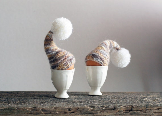 SALE 10% OFF Rustic chic. Egg cozy, set of 2
