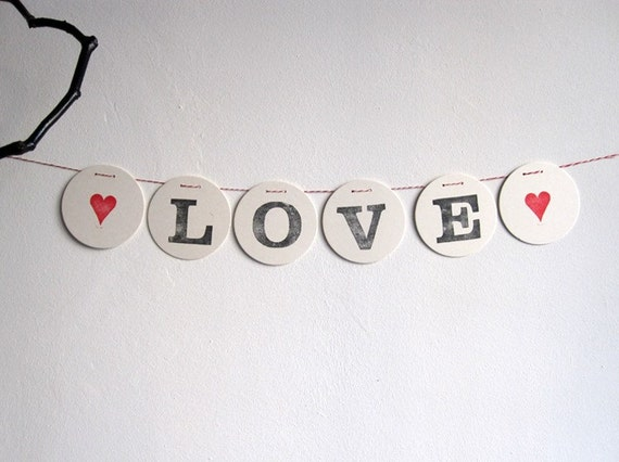 LOVE Bunting // wedding bunting stamped by renna deluxe