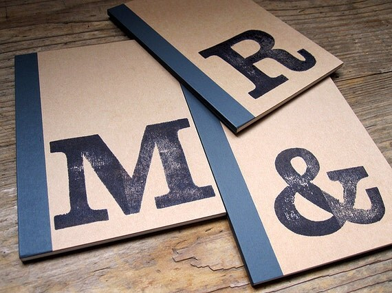 Notebook A6 intial stamped with monogram by renna deluxe