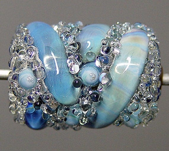 Lampwork  Focal Bead  Blue  SALE