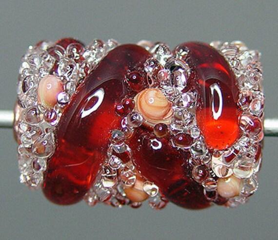 Red Lampwork  Focal Bead   SALE
