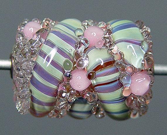 Lampwork  Focal Bead   Purple Pink SALE