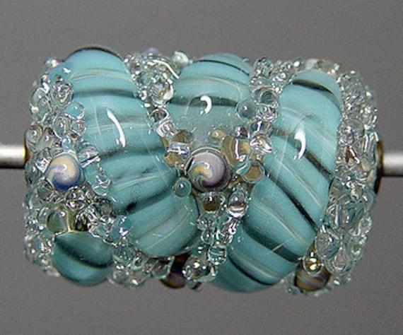 Lampwork  Focal Bead  Blue  SALE