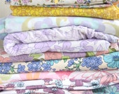 Vintage Fabric Retro Floral Flowers 10 Fat Quarter Bundle