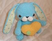 Bunny bum bum crochet amigurumi valentines doll