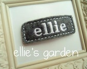 Personalized Embroidered Name Felt Clip Barrette You Choose the Color