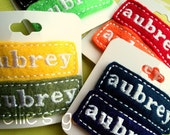 Five for Twenty Personalized Embroidered Name Felt Clip  FIVE of the SAME name You Choose the Color