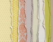 Vintage Worn and Torn Papers - Digital Scrapbooking  INSTANT DOWNLOAD
