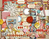 Vintage Carnival - Digital Scrapbooking Kit for Fairs, Festivals INSTANT DOWNLOAD