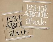 Foam Stamp Alpha - Digital Scrapbooking alphabet paint INSTANT DOWNLOAD