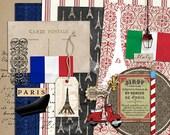 Taste of France & Italy - Digital Scrapbooking kit for Travel, Euorpe, world showcase, Disney, Epcot INSTANT DOWNLOAD