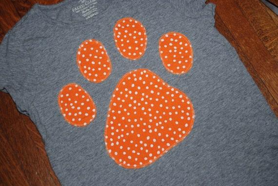 Custom Paw Print, Tiger Paw T-Shirt