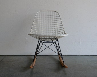 Eames for Herman Miller Wire Chair Rocker-RKR