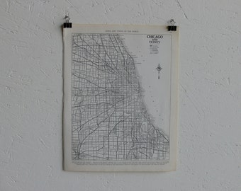 Vintage Map-City of Chicago-Early 20th Century