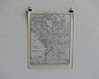 Vintage Map-City of Seattle-Early 20th Century