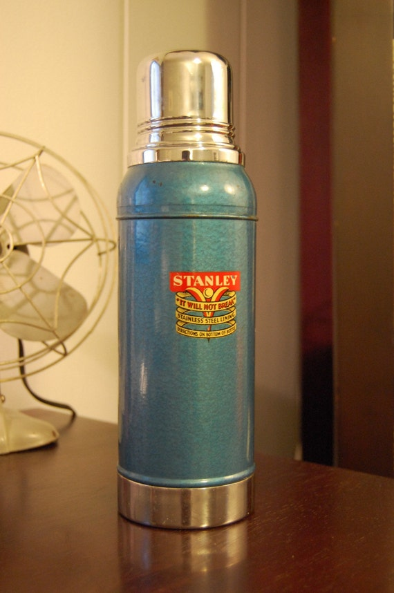 vintage stanley super vac thermos model n944 by comod on etsy. Black Bedroom Furniture Sets. Home Design Ideas